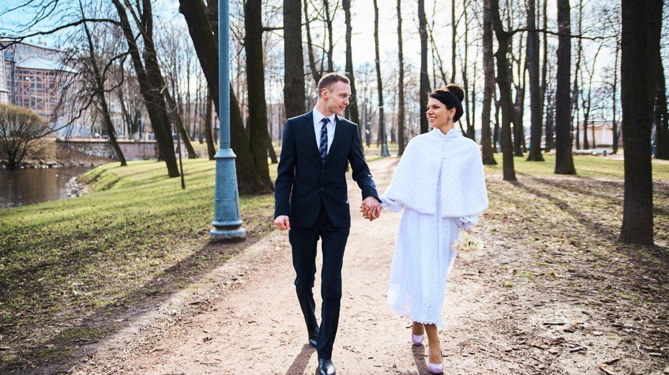 Свадебная прогулка в Санкт-Петербурге