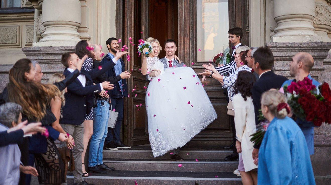 Свадебная съёмка в Санкт-Петербурге, загс №1