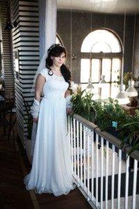 Невеста в оранжерее таврического сада